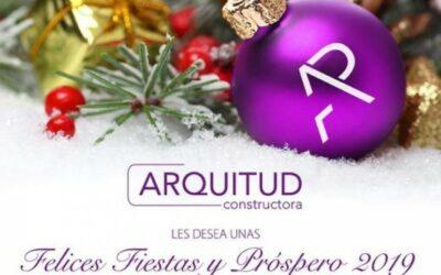 ARQUITUD LES DESEA FELICES FIESTAS Y PRÓSPERO 2019